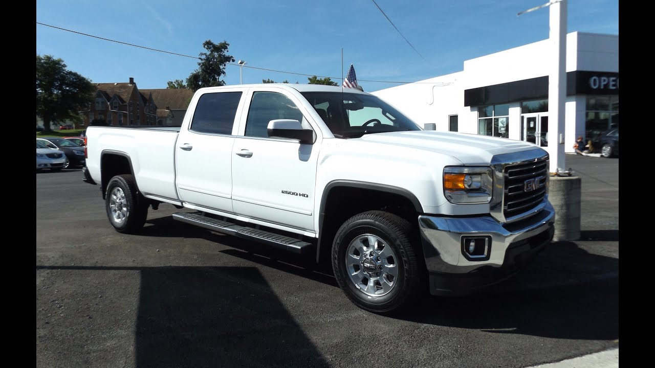 2015 GMC Sierra 2500HD 6.0L V8 SLE Crew Cab Start Up, Tour ...