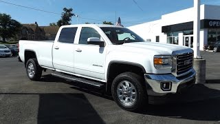 2015 GMC Sierra 2500HD 6.0L V8 SLE Crew Cab Start Up, Tour, and Review