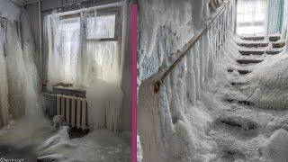 - 59°C ! Inside eerie frozen Russian ghost town !  Vorkuta town