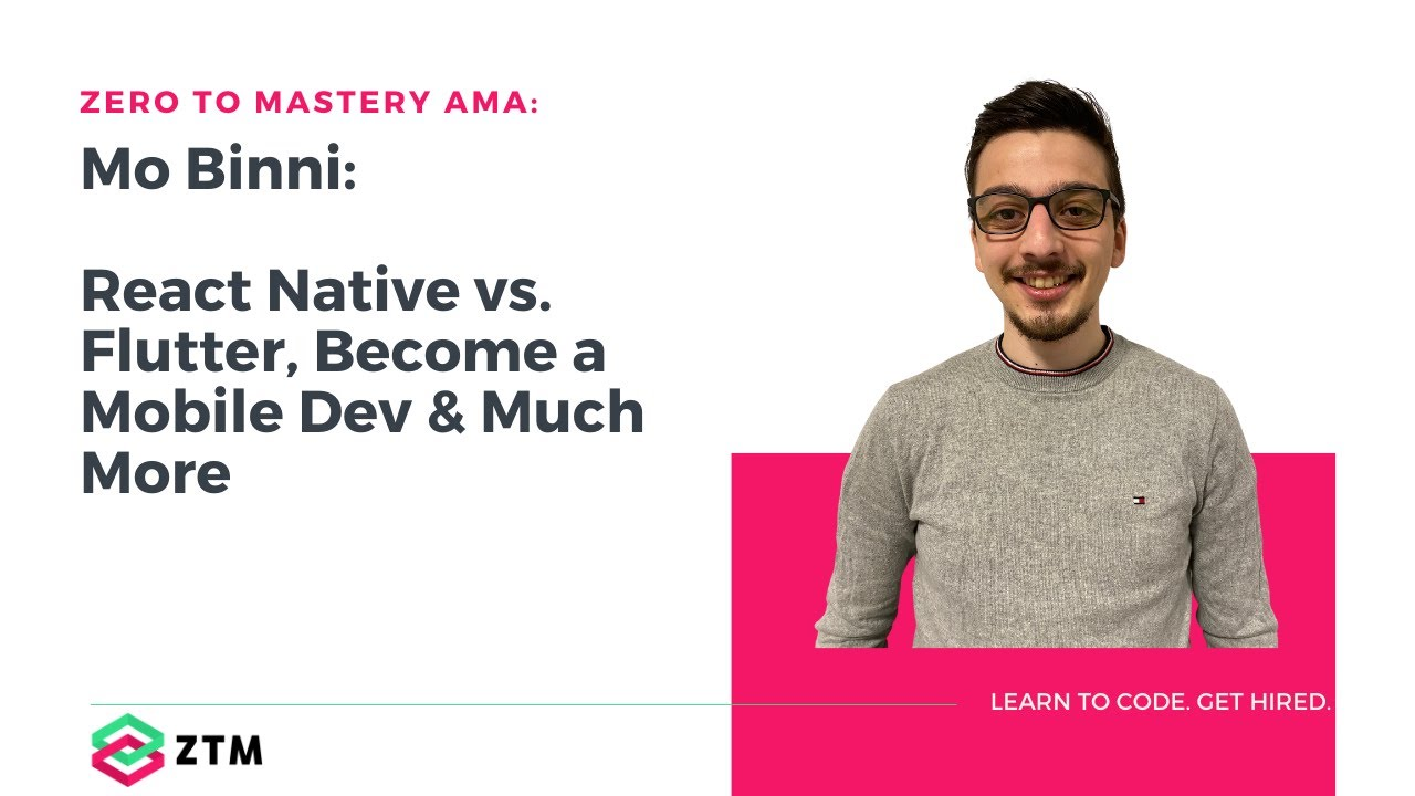React Native vs Flutter, getting hired as a mobile dev + more | AMA w/ Mo Binni