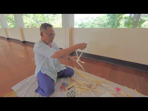 How to make a woven fish-shaped hanging chime, Thailand   Unravel Travel TV
