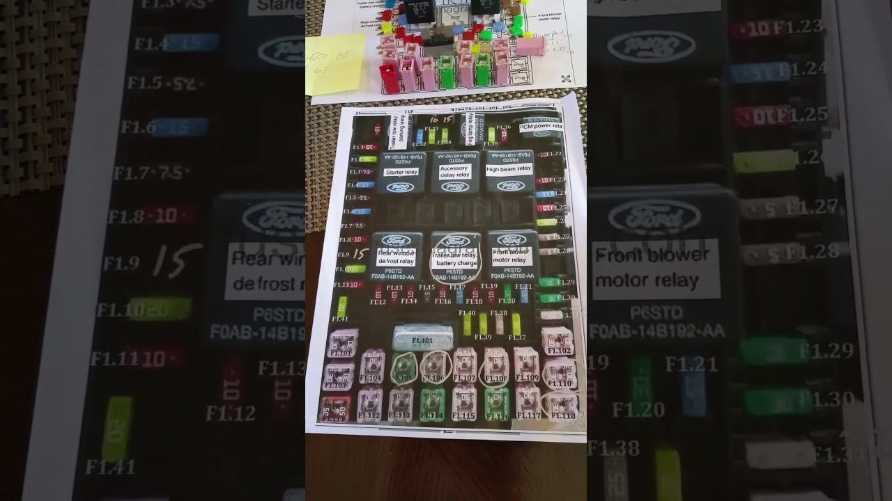 2004 Ford F8vx Ba Repair Fuse Panel Fuel Pump Relay R303 Youtube 04 F 150 Box Diagram
