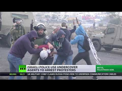 Bordering on violence: Palestinian protesters clash with police over Jerusalem conflict