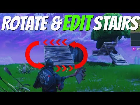 How to Rotate & Edit Building Stairs in ( Fortnite Battle Royale)