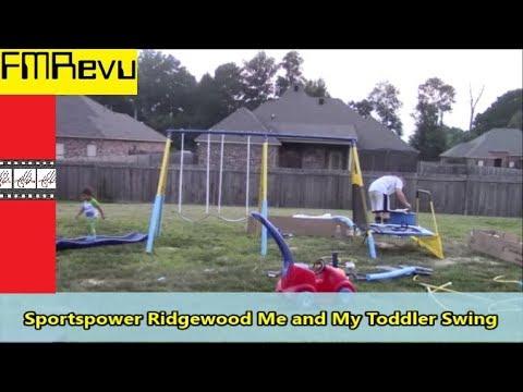 How to assemble Swing Set | $200 Walmart Sportspower Ridgewood Me and My Toddler Metal Swing Set