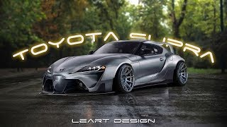 2020 Toyota Supra Wide Body Virtual Tuning Photoshop