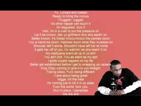 Hopsin - Who's There [OFFICIAL LYRICS ON SCREEN]