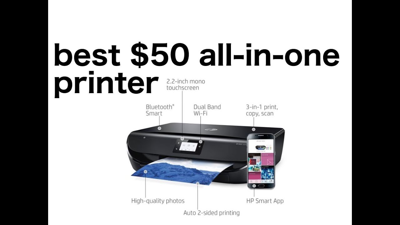 Hp Envy 5055 Printer Unboxing And Wireless Setup Youtube