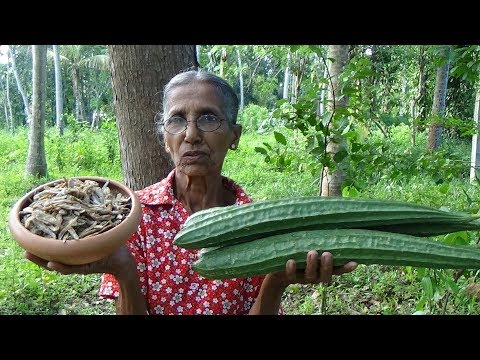 Village Foods ❤ Luffa with Dry fish Recipe prepared in my Village by Grandma
