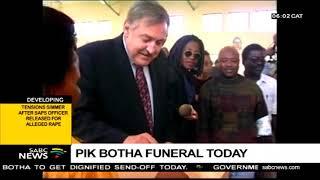 Pik Botha funeral Tuesday