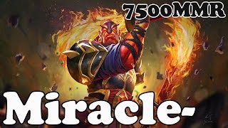 Dota 2 - Miracle- 7500 MMR Plays Ember Spirit vol 2 - Ranked Match Gameplay