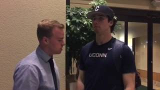 UConn Baseball LHP TIm Cate Feb 17, 2017 Postgame