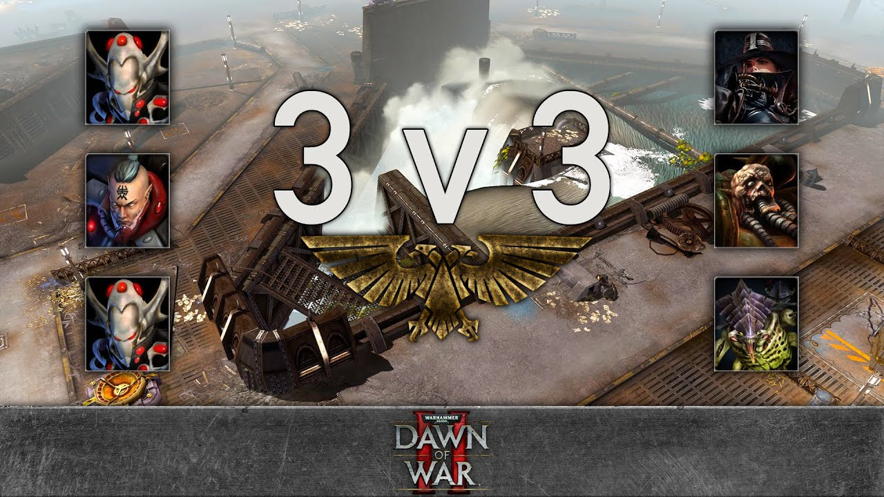 Dawn of War 2 - 3v3 | RedRe Venge + Noisy + Rambo [vs] Bebop + yz + Cry