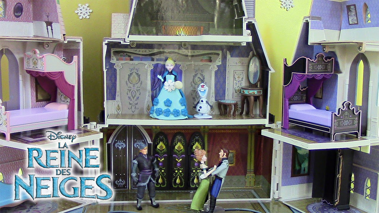 ch teau reine des neiges jouets frozen castle of arendelle playset play doh p te modeler youtube. Black Bedroom Furniture Sets. Home Design Ideas