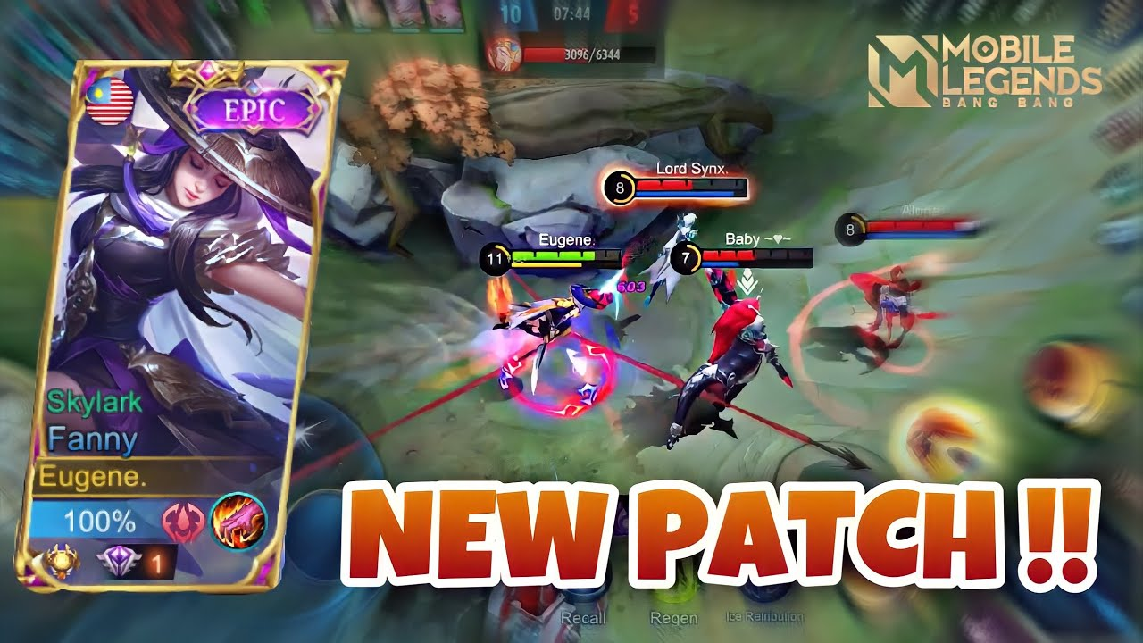 FANNY NEW PATCH GAMEPLAY BY EUGENE !! Fanny Gameplay | MLBB