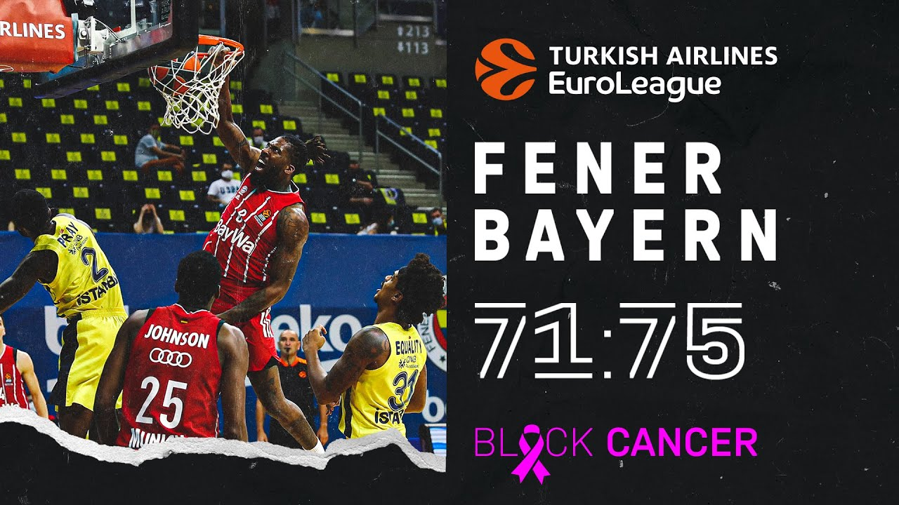 Fenerbahce Istanbul – FC Bayern Basketball 71:75    Turkish Airlines EuroLeague   Highlights
