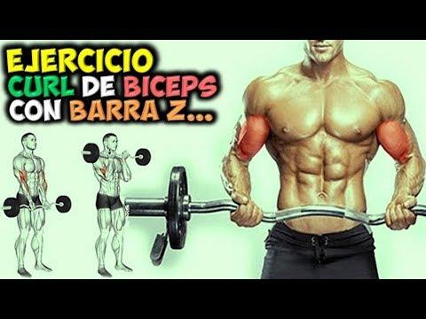 EJERCICIO 💪 Curl De BICEPS Con BARRA Z 👉 Para Construir ¡¡BRAZOS Musculosos!!