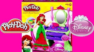 PLAY DOH Tutorial Disney Prettiest Princess Ariel Vanity Little Mermaid Toy Playset