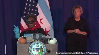 """Mayor Lori Lightfoot Addresses Chicago's Rising Murder Rate in a """"Rona Destroyer"""" Costume"""