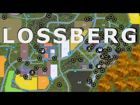 "Farming Simulator 17 ""All 100 Gold Nugget Locations Lossberg"""