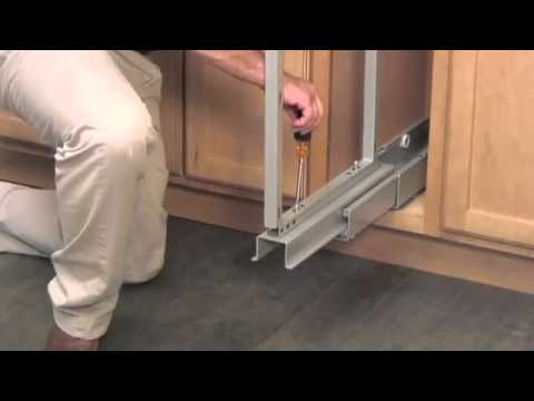 Rev A Shelf 5700 Series Chrome Pull Out Pantry Instruction