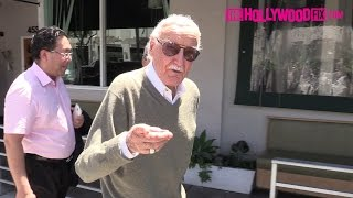 Stan Lee Turns Down Autograph Hound While Leaving Lunch With Friends In Beverly Hills 7.13.16