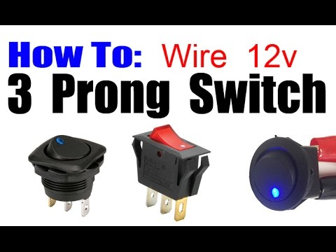 hqdefault how to wire 3 prong rocker led switch youtube 12 volt lighted switch wiring diagram at fashall.co
