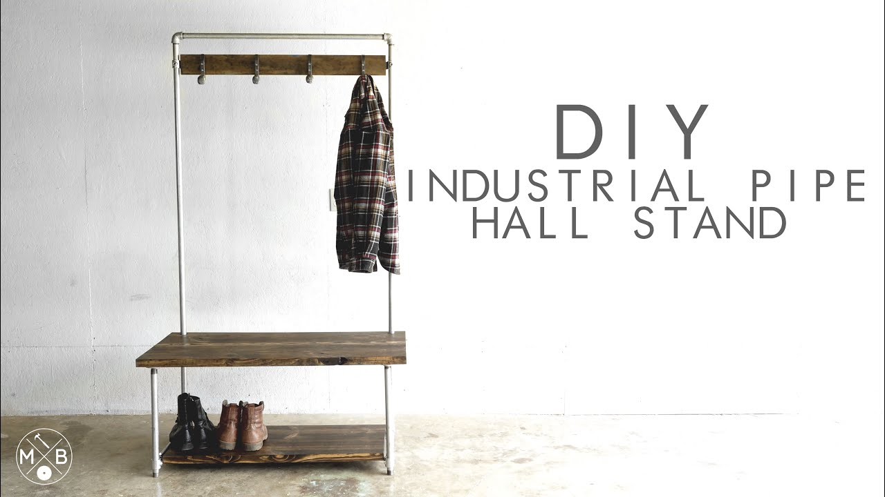 Diy Industrial Pipe Hall Stand Modern Builds Ep 37