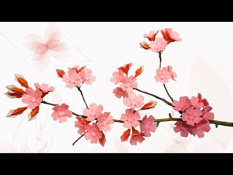 Paper wall decoration ideas |  Flowering Tree Branches Indoors