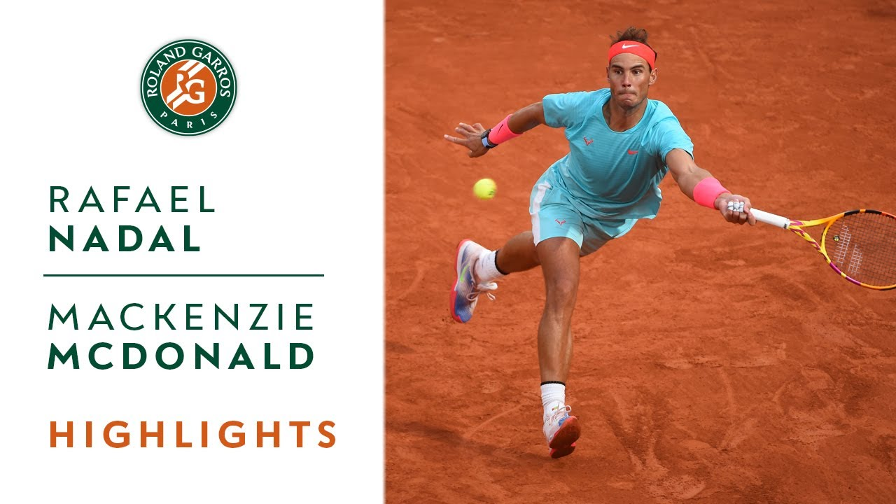 Rafael Nadal Vs Mackenzie Mcdonald Round 2 Highlights I Roland Garros 2020 Youtube