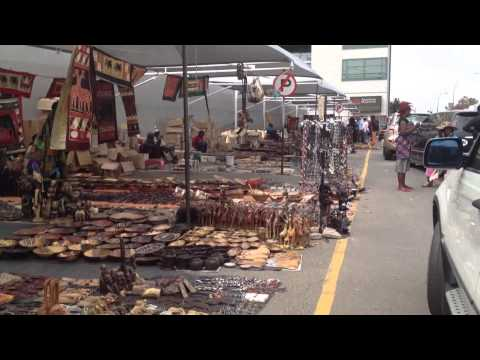 Open-air handicrafts market in Windhoek, Namibia