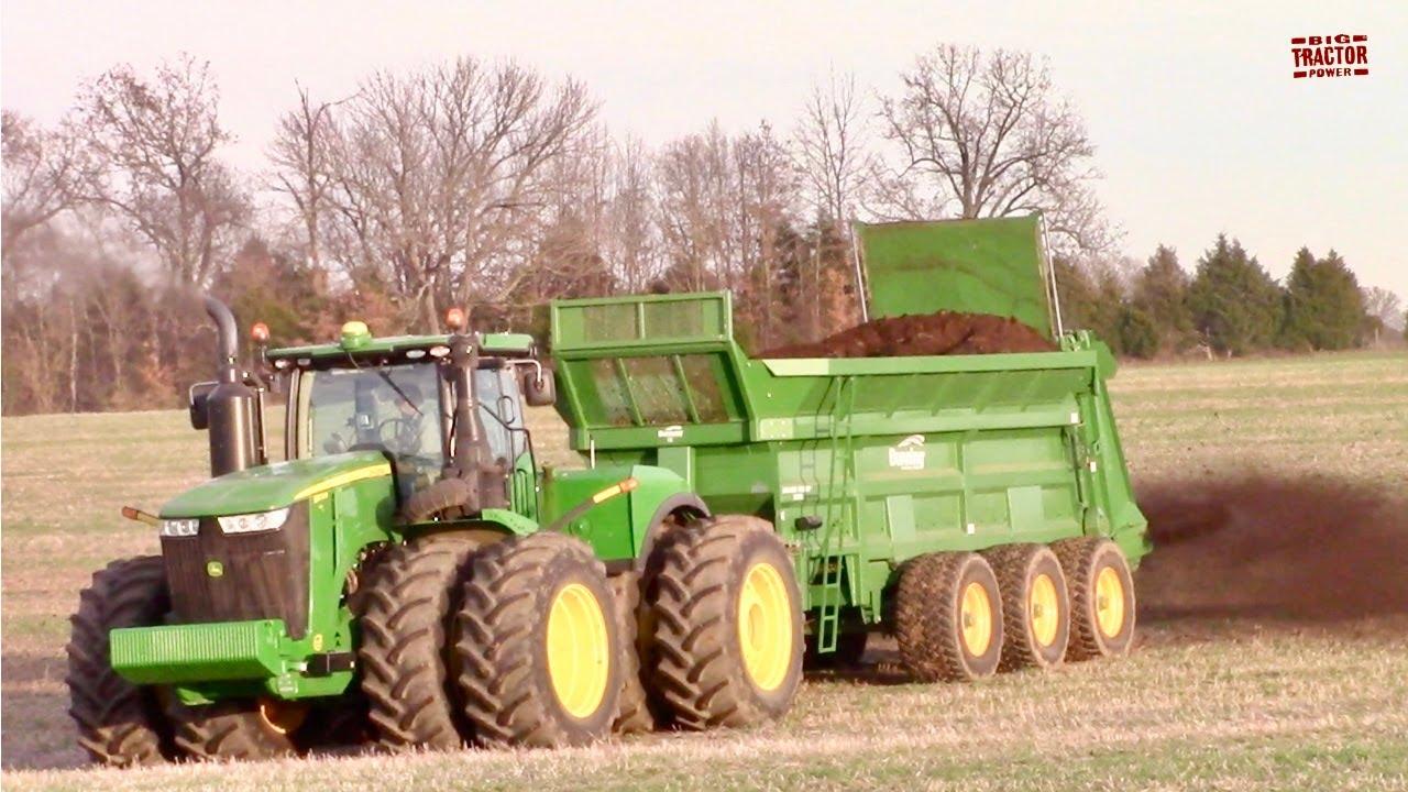 Download HEAVY DUTY SPREADING John Deere 9570R Tractor & Bunning 350 Tri-Axle