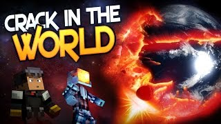 Minecraft GIANT EARTH EXPLOSION! with TrueMU and Logdotzip (1.8 Minecraft Crack in the World)
