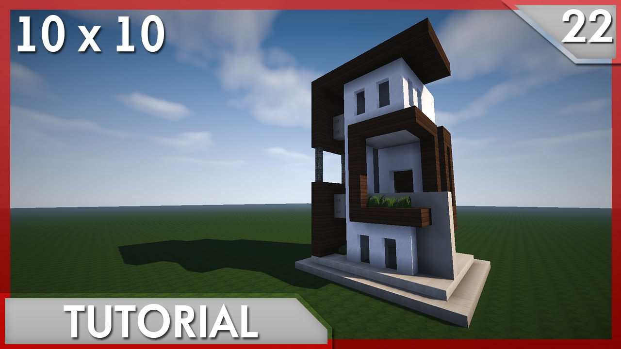 Minecraft como hacer una casa moderna 10x10 22 youtube for Casa moderna 10x10 minecraft