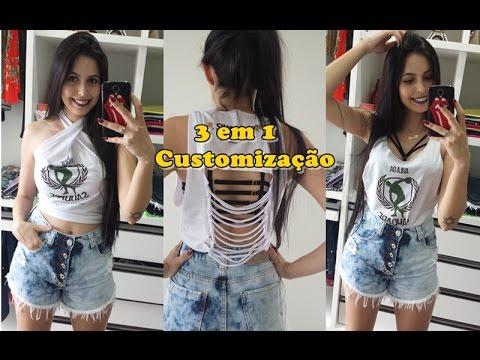 Diy 3 Em 1 Customização De Camiseta L Abadá Carnaval Youtube