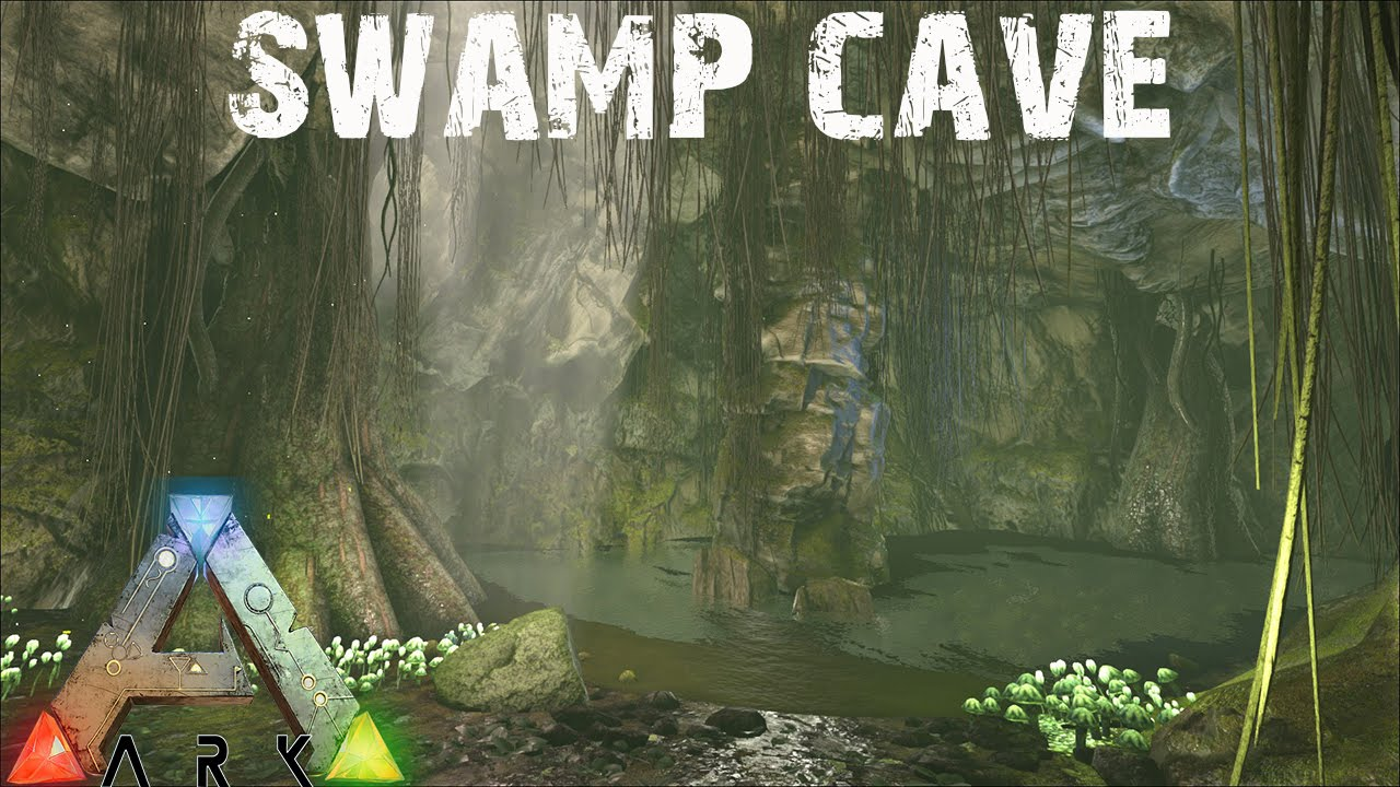 Ark Survival Evolved Exploring The Swamp Cave E28 Youtube
