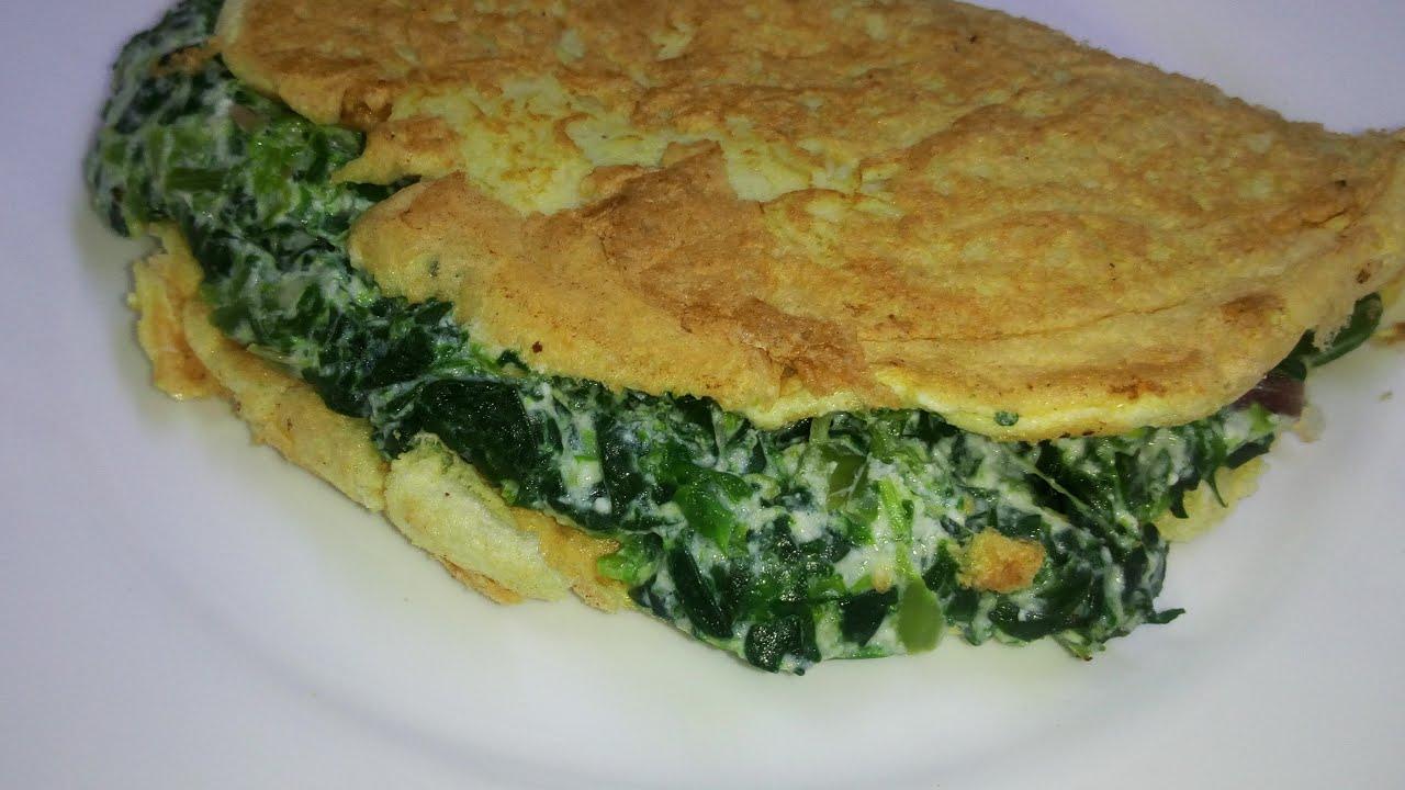 Ricetta Omelette Ricotta E Spinaci.Omelette Con Ripieno Di Ricotta E Spinaci Youtube