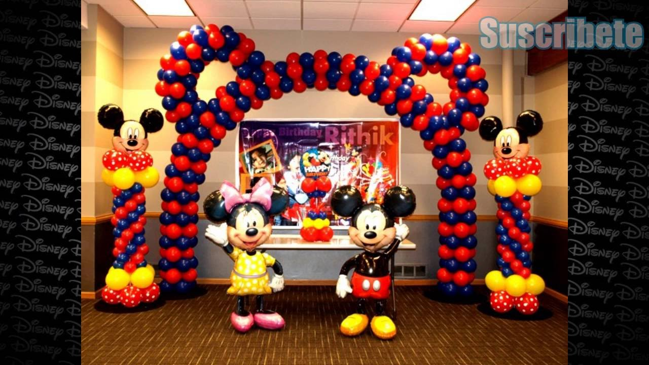 Ideas de como decorar tu fiesta mickey mouse youtube - Como decorar mesas para fiestas ...