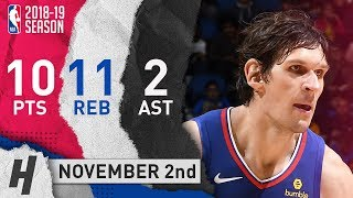 Boban Marjanovic Full Highlights Clippers vs Magic 2018.11.02 - 10 Pts, 2 Ast, 11 Reb, BEAST!