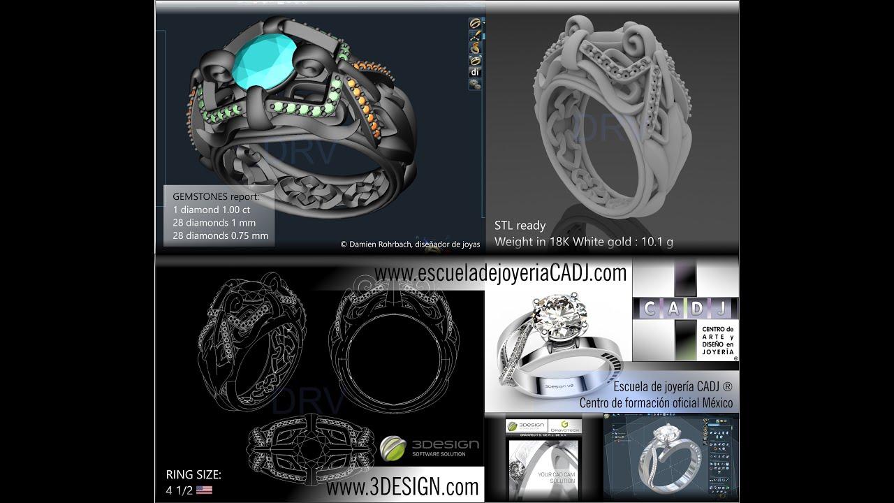 ece0b4dfe627 Diseño de joyas 3D Escuela de joyería CADJ ® Formación en joyería ...