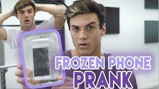 Download FROZE HIS PHONE IN ICE PRANK! Mp3 and Videos