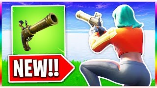 *NEW* Flint Knock PISTOL Gameplay! (Fortnite Battle Royale New Pistol Weapon Update)