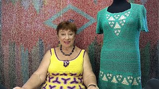 Платье \Фокстрот\. Мастер-класс по вязанию крючком от О. С. Литвиной.
