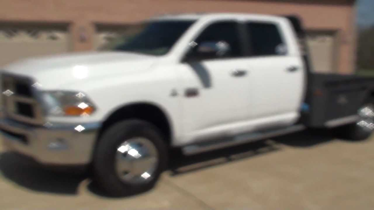 HD VIDEO 2011 DODGE RAM 3500 SLT CREW CAB FLAT BED 4X4 CUMMINS FOR SALE SEE WWW,.SUNSETMILAN.COM ...
