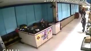 Momento da Explosão de Caixa eletronico Botucatu