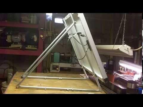 Diy Quick Easy Single Solar Panel Mount 1 Youtube