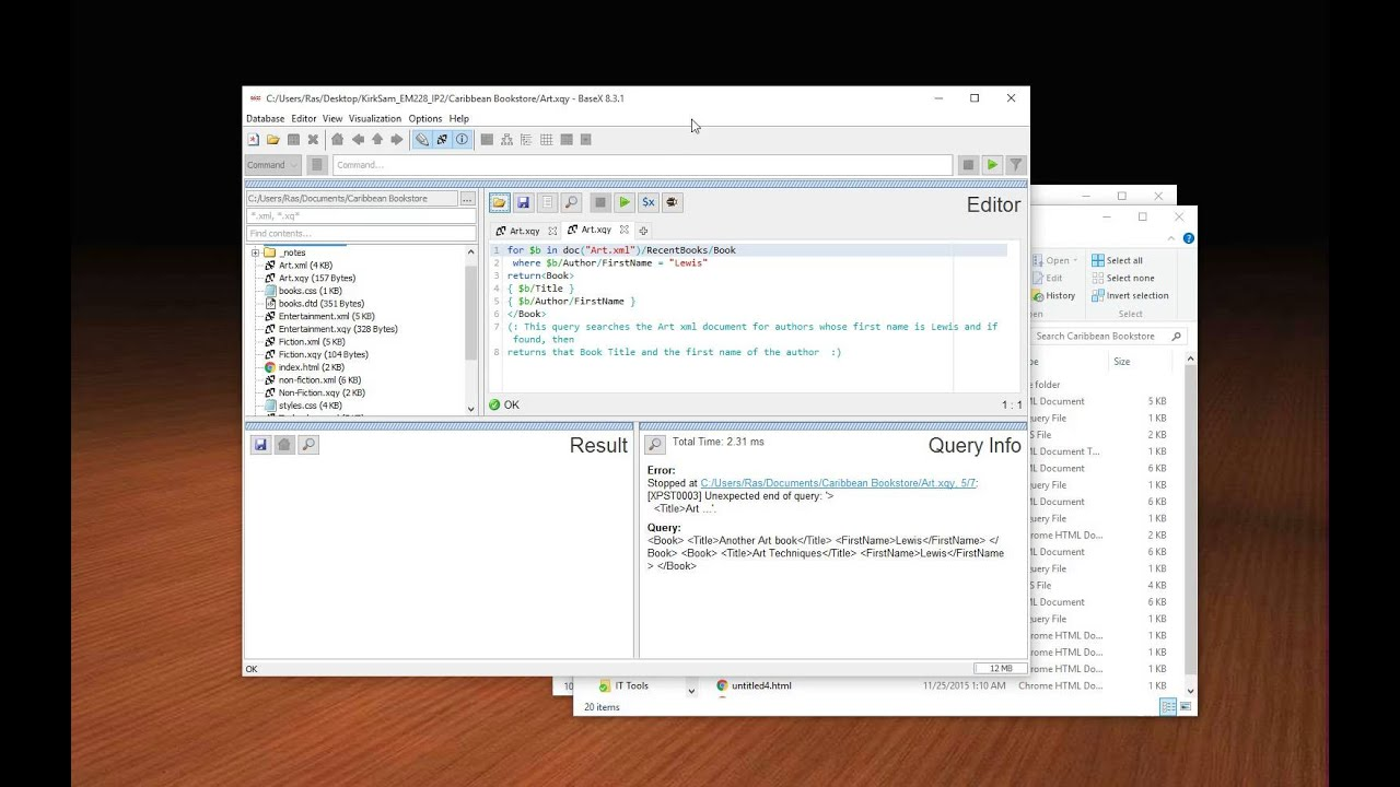 Using Xquery To Query An Xml Document Via Basex Youtube