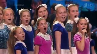 "Big children's choir of VGTRK - ""Merry wind""."
