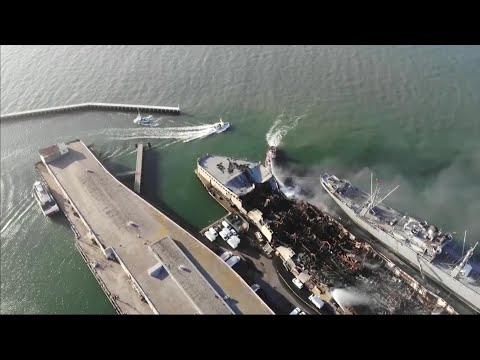 RAW VIDEO: Drone Flies Over SF's Fisherman's Wharf Fire Devastation