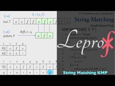 ⨘ } Algorithms } 039 } String Matching } Knuth-Morris-Pratt }